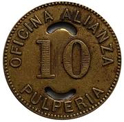 10 Centavos Oficina Alianza – avers