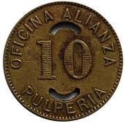 10 Centavos Oficina Alianza – revers