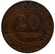 20 Centavos Santa Isabel – revers