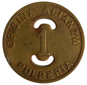 1 Peso -  Oficina Alianza Buenaventura – avers