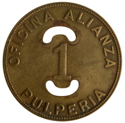 1 Peso -  Oficina Alianza Buenaventura – revers