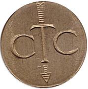 Jeton de téléphone - CTC (flèche vers en bas; OS; laiton grand module) – avers