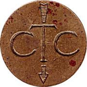 Jeton de téléphone - CTC (flèche vers en bas; grand module; 6 et 9 rond) – avers