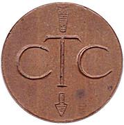 Jeton de téléphone - CTC (flèche vers en bas; bronze grand module) – avers