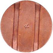 Jeton de téléphone - CTC (flèche vers en bas; bronze grand module) – revers