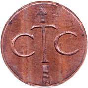 Jeton de téléphone - CTC (flèche vers le haut; bronze grand module) – avers