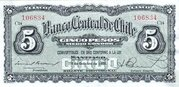 5 Pesos (½ Condor) – avers