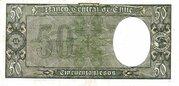 50 Pesos (5 Condores) – revers