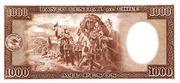 1000 Pesos (100 Condores) – revers