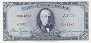 50 Centesimos (Overprint on 500 Pesos) – avers