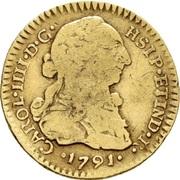 1 Escudo - Carlos IIII (bust of Carlos III) – avers