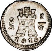 ¼ Real - Fernando VII – avers