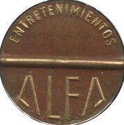 Jeton de jeu Entretenimientos Alfa – avers