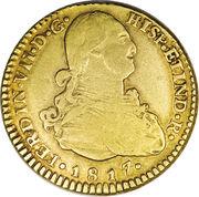 2 Escudos - Fernando VII – avers