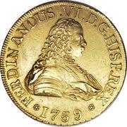 8 Escudos - Fernando VI (Colonial Milled Coinage) – avers