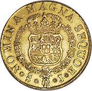 8 Escudos - Fernando VI (Colonial Milled Coinage) – revers