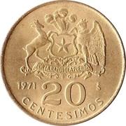 20 centesimos -  revers