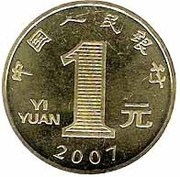 1 Yuan (Year of the Pig) – revers
