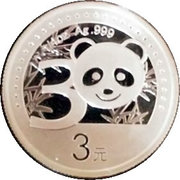 3 Yuan - 30th Anniversary of Chinese Panda Gold Coin – revers