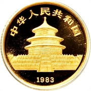 "5 Yuán (""Panda"" Gold Bullion Coinage) – avers"