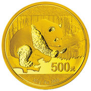 "500 Yuan (""Panda"" gold bullion coinage.) – revers"