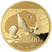 1500 Yuan (Panda; Gold Bullion Coinage) – revers