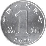 1 jiao – revers