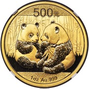 Panda 1 oz Gold – revers