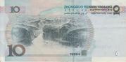 10 yuan (sans YUAN) – revers
