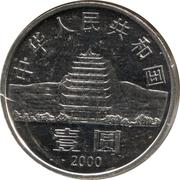1 Yuan pagode de Dunhuang et relique des cavernes de Gan Su – avers