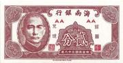 2 Cents (Hainan Bank) – avers