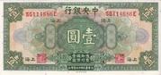 1 Yuan 1928 – avers