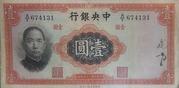 1 Yuan (Central Bank of China) – avers