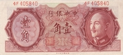 10 Cents (The Central Bank of China) – avers