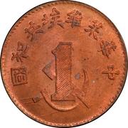 1 Fen (Fansaty; Chinese Soviet Republic; restrike) – avers