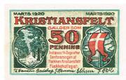 50 Pfennige (Flecken Christiansfeld) – revers