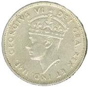 9 piastres - Georges VI – avers