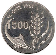 500 mils - République – revers