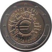 2 euros Introduction de l'euro (10 ans) -  avers