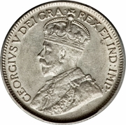9 piastres - Georges V – avers