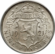 9 piastres - Georges V – revers