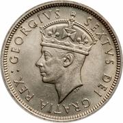 "2 shillings George VI (sans""IND. IMP."") – avers"
