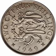 "2 shillings George VI (sans""IND. IMP."") – revers"