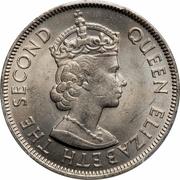 100 mils - Elisabeth II -  avers