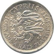 4½ piastres - George VI – revers