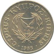 20 cents (numéro de valeur encadré) – avers