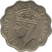 1 piastre - Georges VI – avers