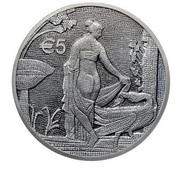 5 euros Léda et le cygne -  avers