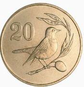 20 cents (numéro de valeur solide) -  revers
