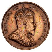 1 Piastre - Edward VII – avers